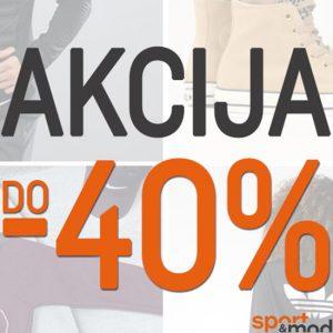 – 40% akcija – Sport&Moda Shop