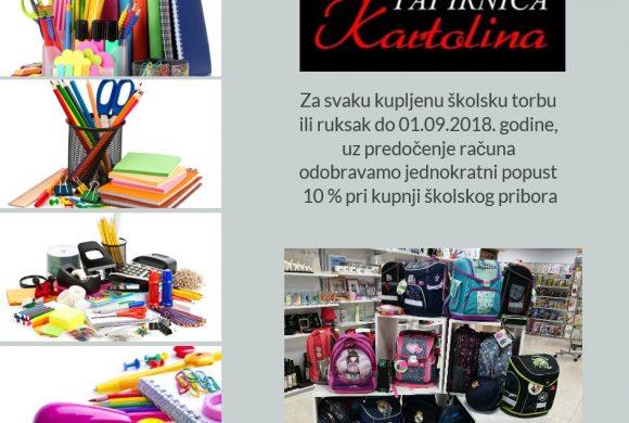 Kupnjom skolskih torbi ostvarite popust na pribor
